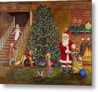 Christmas Visitor Metal Print by Linda Mears