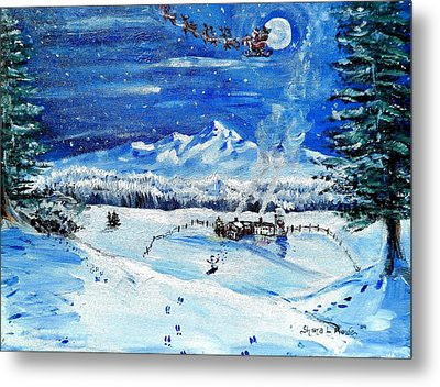 Metal Print featuring the painting Christmas Wonderland by Shana Rowe Jackson