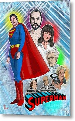 Christopher Reeve's Superman Metal Print by Joseph Burke