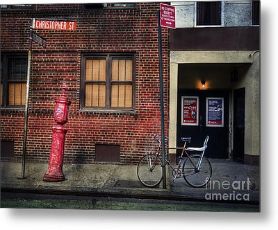 Metal Print featuring the photograph Christopher St. Bicycle by Craig J Satterlee