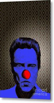 Metal Print featuring the drawing Christopher Walken 1 by Jason Tricktop Matthews
