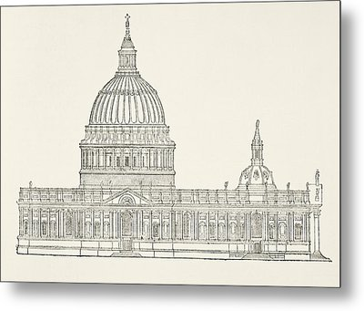 Christopher Wren S First Design For The Metal Print