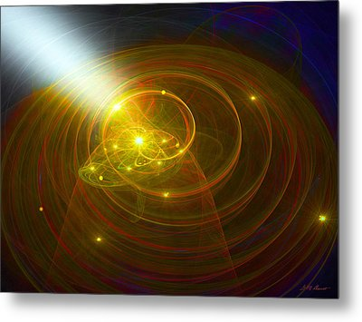 Christopher's Vision Of Golden Light Metal Print by Michael Durst