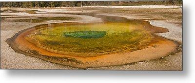 Chromatic Pool At Yellowstone Metal Print by John Higby