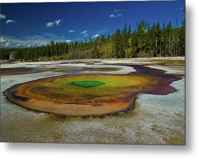 Metal Print featuring the photograph Chromatic Pool by Roger Mullenhour