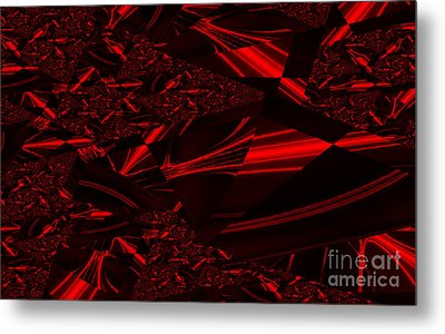 Chrome In Red Metal Print by Clayton Bruster