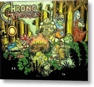 Chrono Trigger Campfire Metal Print by Paul Tokach