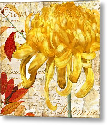 Chrysanthemes Metal Print by Mindy Sommers