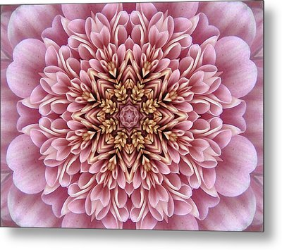 Chrysanthemum Kaleidoscope Metal Print