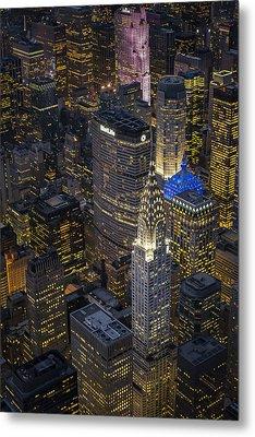 Chrysler Building Aerial View Metal Print