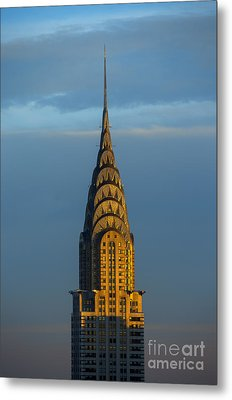 Chrysler Building In The Evening Light Metal Print by Diane Diederich