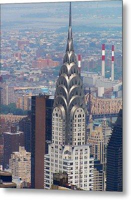 Chrysler Building Metal Print by Vijay Sharon Govender