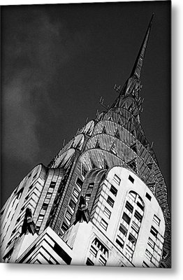 Chrysler Building's Apex Metal Print