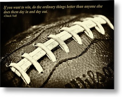 Chuck Noll - Pittsburgh Steelers Quote Metal Print by David Patterson