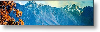 Chugach Mountains In Fall Metal Print by Judyann Matthews