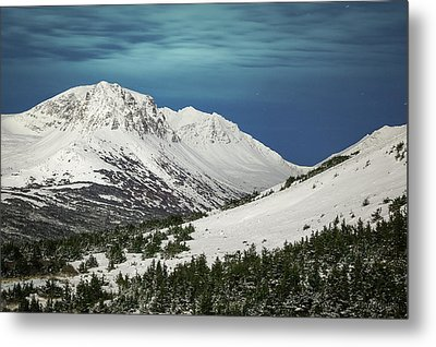 Chugach Night Metal Print