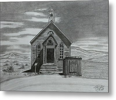Church  At Bodie  Metal Print