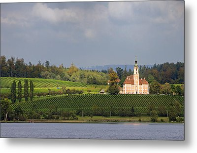 Church Birnau Lake Constance In Great Landscape Metal Print