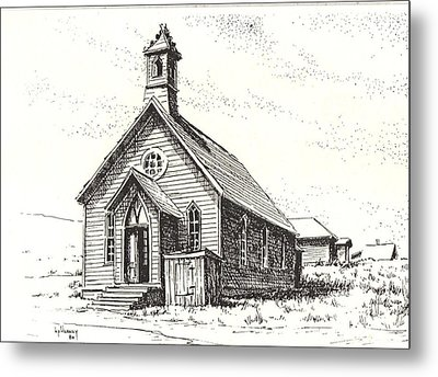 Church Bodie Ghost Town California Metal Print by Kevin Heaney