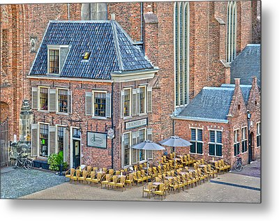 Metal Print featuring the photograph Church Cafe In Groningen by Frans Blok