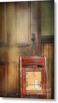 Church Chair Metal Print by Craig J Satterlee