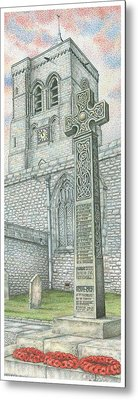 Church Clock Metal Print by Sandra Moore