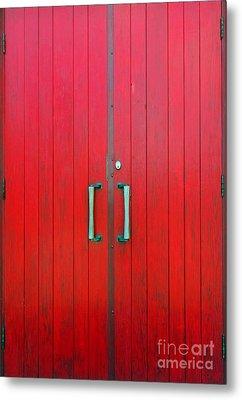 Church Door Metal Print by Ethna Gillespie
