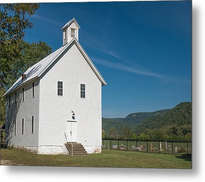 Church House In The Ozarks Metal Print