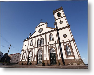 Church In Azores Islands Metal Print by Gaspar Avila