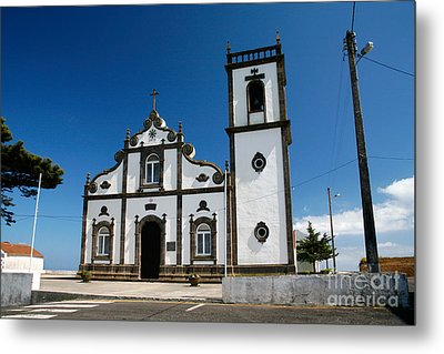 Church In The Azores Metal Print by Gaspar Avila