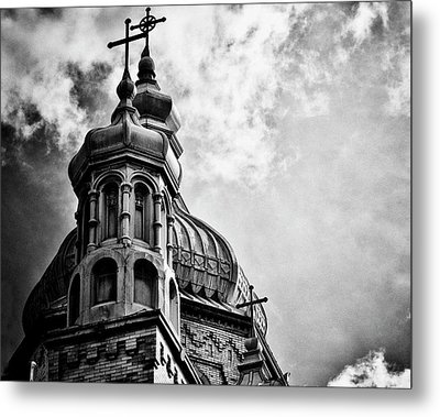 Metal Print featuring the photograph Church In The Clouds by Sheryl Thomas