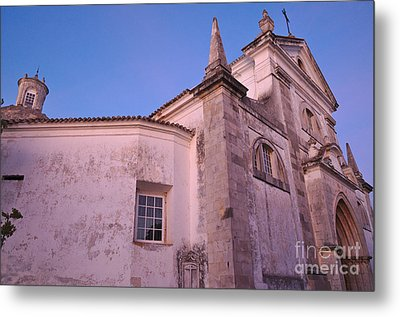 Church Of Saint Mary During Twilight In Tavira Metal Print by Angelo DeVal