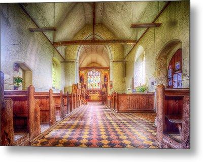 Church Of St Botolph Interior Metal Print by Nigel Bangert