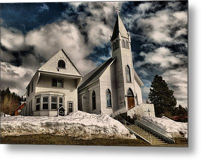 Metal Print featuring the photograph Church Of The Immaculate Conception Roslyn Wa by Jeff Swan