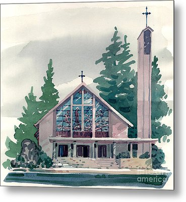 Church Of The Immaculate Heart Of Mary Metal Print by Donald Maier