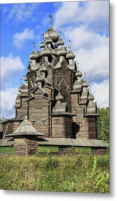 Church Of The Intercession Of The Blessed Virgin Mary, A Unique Monument Of Church Architecture Of A Metal Print