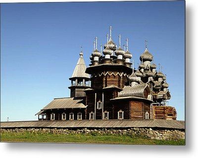 Church Of The Transfiguration Kizhi Russia Metal Print