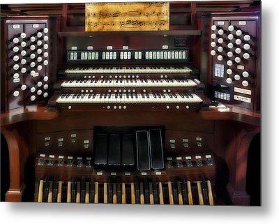 Church Pipe Organ Metal Print