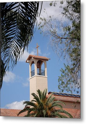 Metal Print featuring the photograph Church Steeple by Rosalie Scanlon