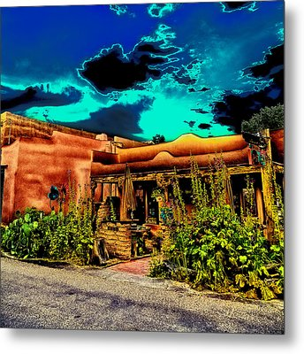 Church Street Cafe - Albuquerque Metal Print by David Patterson