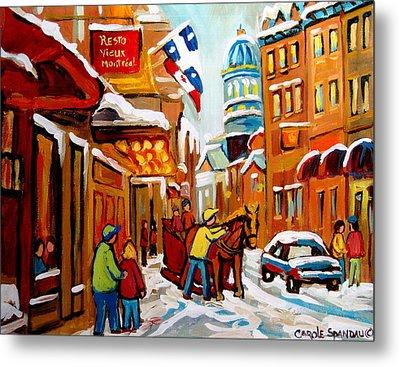 Church Street In Winter Metal Print by Carole Spandau