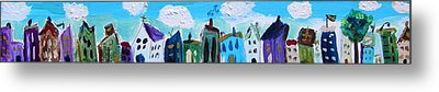 Metal Print featuring the painting Church Street by Mary Carol Williams