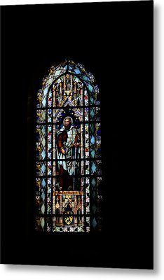Church Window  Metal Print by Tommytechno Sweden