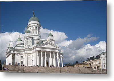 Metal Print featuring the pyrography Church  by Yury Bashkin