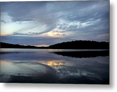 Metal Print featuring the photograph Churning Clouds At Sunrise by Chris Berry