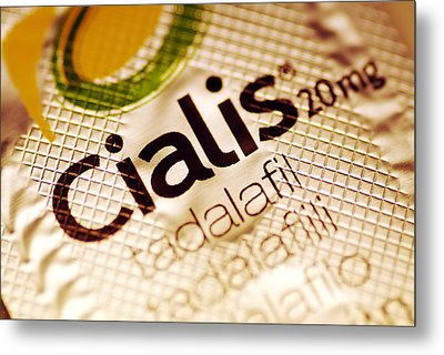 Cialis Packaging Metal Print by Pasieka