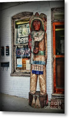 Metal Print featuring the photograph Cigar Store Indian by Paul Ward