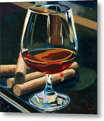 Cigars And Brandy Metal Print by Christopher Mize