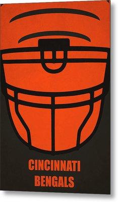 Cincinnati Bengals Helmet Art Metal Print by Joe Hamilton