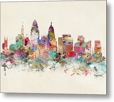 Cincinnati City Skyline Metal Print by Bri B